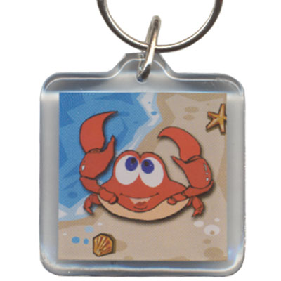 Key Holder. Acrylic. Square. MD. Baltimore. Crab.