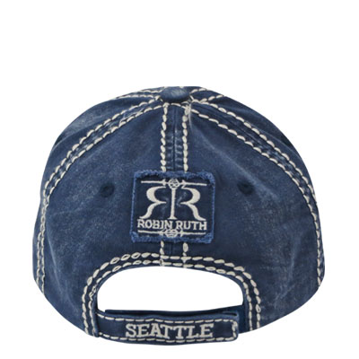 Hat. WA. R.R. Seattle. Blue. Original.