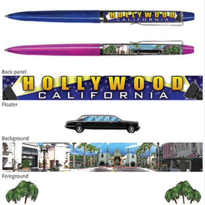 Pen. Floaty. Classic. CA. Los Angeles. Hollywood. Limousine.