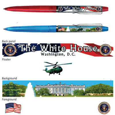 Pen. Floaty. Classic. DC. White House.