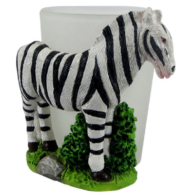 Shot Glass. With Resin Figure. Zebra.
