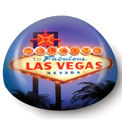 Paperweight. Glass. 80mm. NV. Las Vegas Sign.
