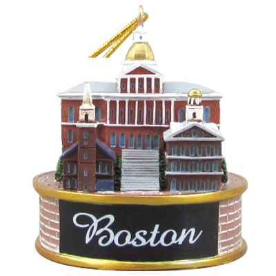 Ornament. Polyresin. MA. Boston. Historic. 3D.
