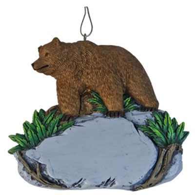 Ornament. Polyresin. Natural Wonders. Grizzly Bear.