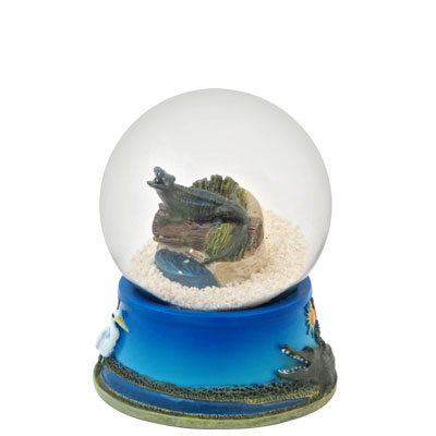 Sandglobe. Glass. 45 mm. Alligator.