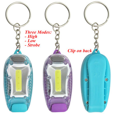Key Holder. Safety Light. 3 Modes. Assorted Colors.