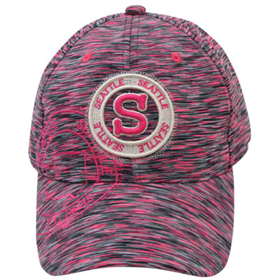 Hat. WA. R.R. Seattle. Pink. Space Dye. Icon. CSE7113-F.