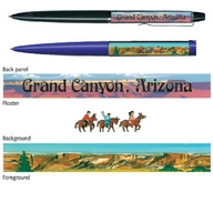 Pen. Floaty. Classic. AZ. General. Grand Canyon. 3 Mules.
