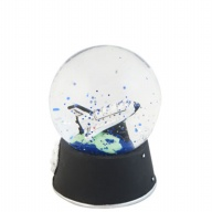 Waterglobe. Glass. 45 mm. Space Shuttle.