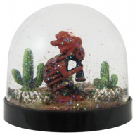 Waterglobe. Black Base. Kokopelli.