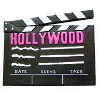 Magnet   Polyresin. CA. Hollywood. Clapboard.