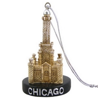 Ornament Polyresin. IL. Chicago. Water Tower. 3D