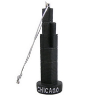 Ornament Polyresin. IL. Chicago. Willis Tower. 3D