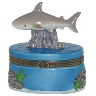 Box. Porcelain. Shark.