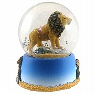 Waterglobe. Glass. 65 mm. Lion.