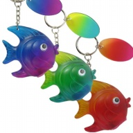 Key Holder. Rainbow Lite. Tropical Fish.