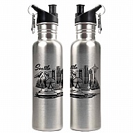 Water Bottle. Stainless Steel. Seattle. Stainless.