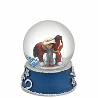 Waterglobe. Glass. 45 mm. Lil Cowboy. Hat and Boots.