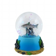 Waterglobe. Glass. 45 mm. Shark.