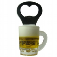 Magnet. Beer Glass. Bottle Opener.
