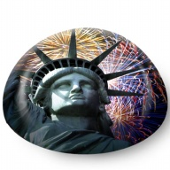 Paperweight. Glass. 80mm. NY. New York. Statue of Liberty.