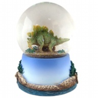 Waterglobe. Glass. 65 mm. Dinosaur. Stegosaurus.