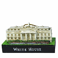 Ornament. Polyresin. DC. White House. 3D.
