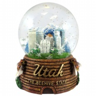 Waterglobe. Glass. 65 mm. UT. Salt Lake City. Beehive.