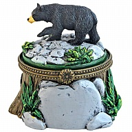 Box. Polyresin. Natural Wonders. Black Bear.