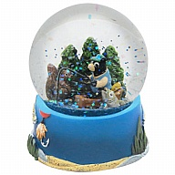 Waterglobe. Glass. 65 mm. Bear. Fishing.