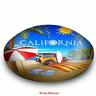 Magnet. Glass. Round. 50mm. CA. California.