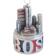 Ornament. Polyresin. GlitterBase. MA. Boston. Fenway Park. 3D.