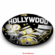 Magnet. Glass. Round. 50mm. CA. Hollywood.
