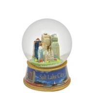 Waterglobe. Glass. 45 mm. Photo Wrap. UT. Salt Lake City. Skyline.
