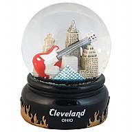 Waterglobe. Glass. 65 mm. OH. Cleveland. Executive.