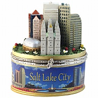 Box. Polyresin. Photo Wrap. UT. Salt Lake City. Skyline.