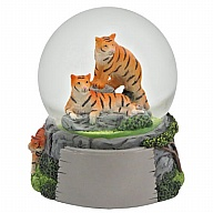Waterglobe. Glass. 65 mm. High Relief. Tiger.