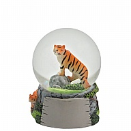 Waterglobe. Glass. 45 mm. High Relief. Tiger.