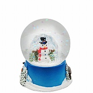 Waterglobe. Glass. 45 mm. Snowman.