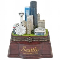 Box. Polyresin. Wood Base. WA. Seattle.