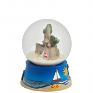 Sandglobe. Glass. 45 mm. Sandcastle.
