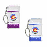 Key Holder. Aqua Mesmerizer. Solo Spinner. CO. Colorado. Flag.