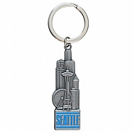 Key Holder. Metal. Pewter Look. Color Fill. WA. Seattle.