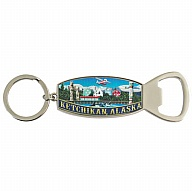Key Holder. Bottle Opener. Metal. Foil. AK. Ketchikan.