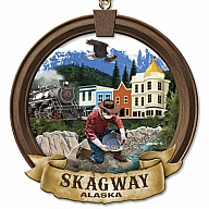 Ornament. Polyresin. AK. Skagway.