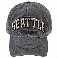 Hat. WA. R.R. Seattle. Black. CSE302-B.