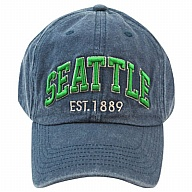 Hat. WA. R.R. Seattle. Blue. CSE302-G.