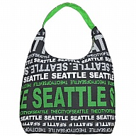 Handbag. WA. R.R. Seattle. Black/Green. BSE504-N.