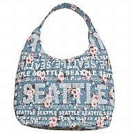 Handbag. WA. R.R. Seattle. Blue. Floral. BSE7502-D.