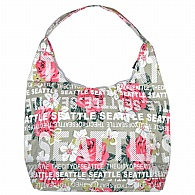Handbag. WA. R.R. Seattle. Grey. Floral. BSE7502-C.